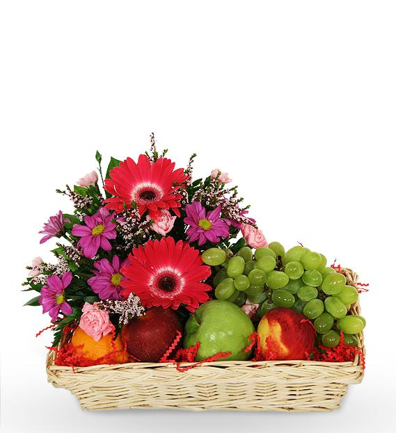 Fruit Flower Basket How To : Fruit basket w flowers delivery to dhaka gifts
