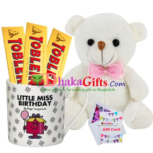 Mug And Toblerone Chocolate With Teddy