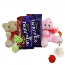 Valentine's Day Bear with Cchocolate in Dhaka