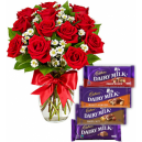 Valentine's Day Flower with Cchocolate in Dhaka