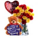 Flower,Balloon,Chocolate W/Bear to Bangladesh