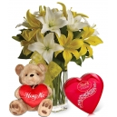 Valentine's Day Flower with Bear and Chocolate in Dhaka