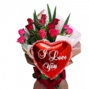 Send Valentines Day Flower with Balloon to Dhaka