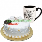 send mothers day cake with decorated mug to bangladesh