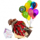 send birthday flowers with balloon to dhaka