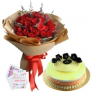 send birthday flowers with cake to dhaka