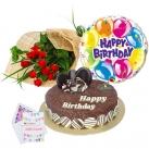 send birthday flower, balloon with cake to dhaka