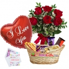 send birthday flowers, balloon with chocolates to dhaka