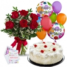 send flowers balloon with cake