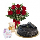 send flower, teddy bear with cake to dhaka, bangladesh