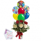 send flower with balloon to dhaka, bangladesh