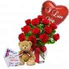 send flowers, bear with balloons to dhaka, bangladesh