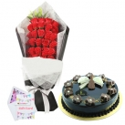 send flowers with cakes to dhaka, bangladesh