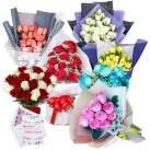 send colorful roses arrangements to dhaka, bangladesh