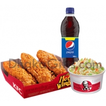 send crispy chicken strips with coleslaw and pepsi-kfc to dhaka