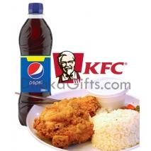 send kfc chicken rice meal with pepsi to dhaka