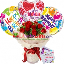 Birthday Flowers And Balloons Delivery To Dhaka