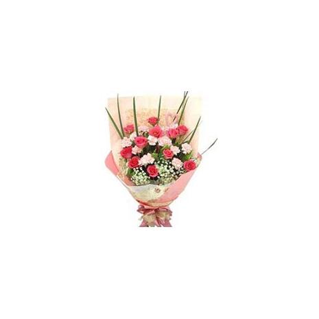 Send Pink Carnations & Red Rose to Dhaka in Bangladesh