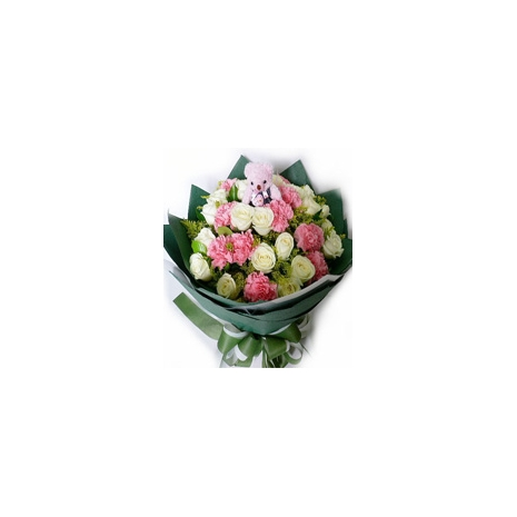 Send White Roses & Pink Carnations to Dhaka in Bangladesh