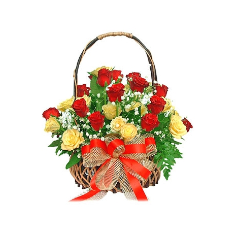 Send Basket of Roses to Dhaka in Bangladesh
