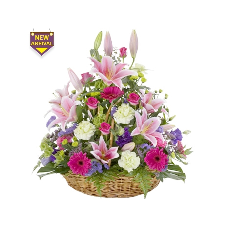Send Elegant Flower Basket to Dhaka in Bangladesh
