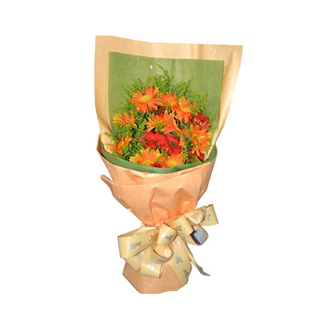 Send 10 Orange Gerberas to Dhaka in Bangladesh