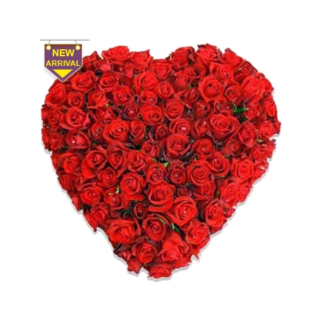 Send 100 Red Roses Heart to Dhaka in Bangladesh