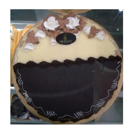 Send 2.2 Pounds Chocolate & Vanilla Mix Cake by Mr. Baker to Dhaka in Bangladesh