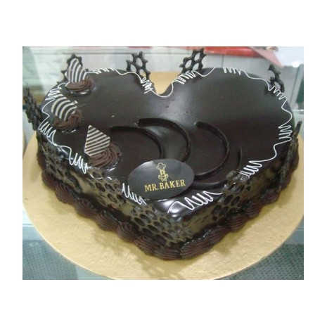 Send 2.2 Pounds Chocolate Heart Cake by Mr Baker to Dhaka in Bangladesh
