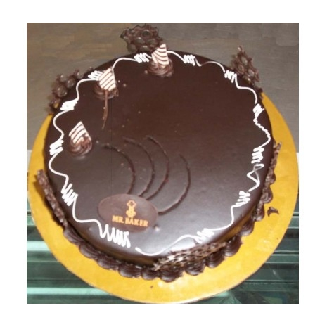 Send 2.2 Pounds Round Chocolate Cake by Mr. Baker to Dhaka in Bangladesh