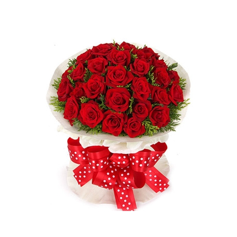 Send Love you 24 Red Roses to Dhaka in Bangladesh