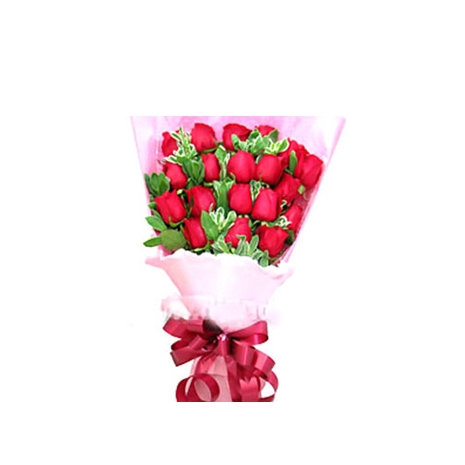 Send 24 Red Roses with Baby's Breath to Dhaka in Bangladesh