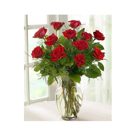 Send One Dozen Ruby Red Roses to Dhaka in Bangladesh