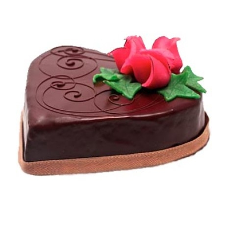 Send 2.2 Pounds Chocolate Heart Shape Cake by Swiss Cake to Dhaka in Bangladesh