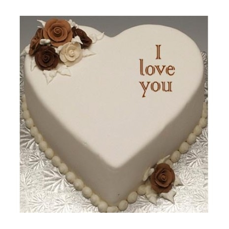 Send 2.2 pounds Heart shape vanilla cake by Swiss Cake to Dhaka in Bangladesh