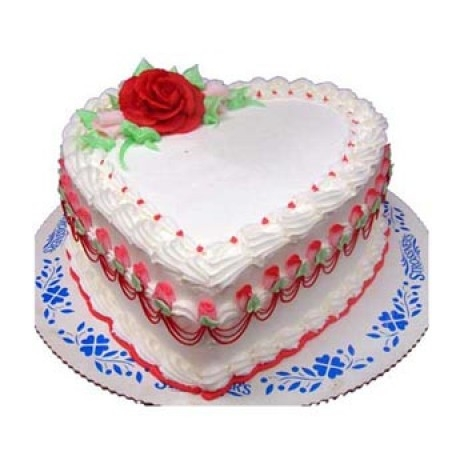 Send 4.4 pounds Vanilla Heart Cake by Yummy Yummy to Dhaka in Bangladesh