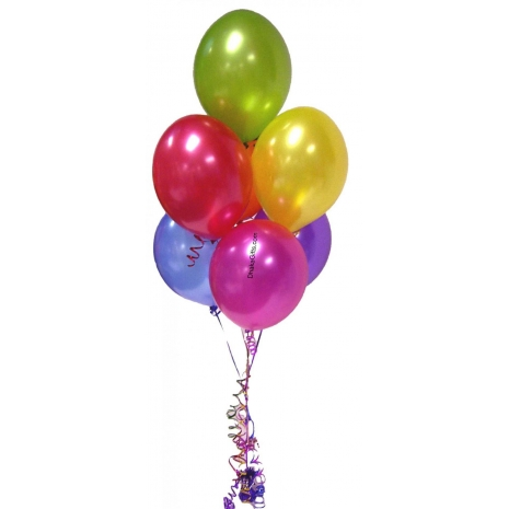 Send 6 pcs Multicolor Latex Balloons to Dhaka in Bangladesh