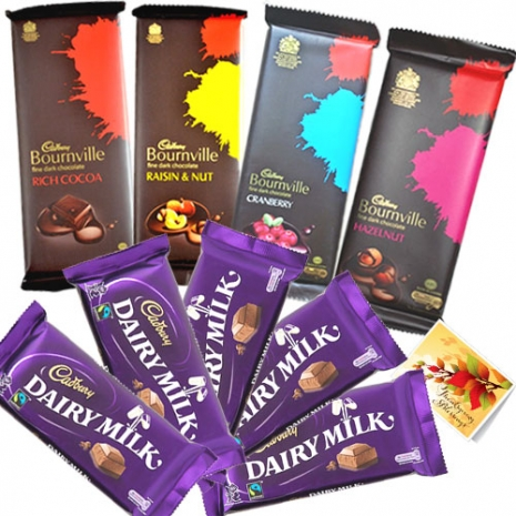 Send to 4 Bournville Hazelnut & Dairy Milk Chocolate to Dhaka