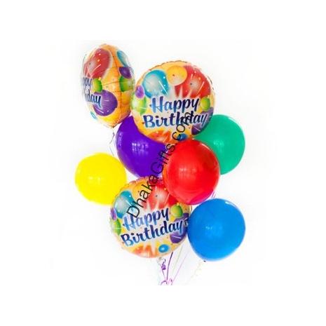 Send 2pcs mylar and 6 pcs latex balloons to Dhaka in Bangladesh