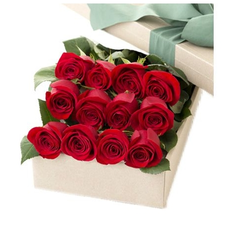 12 Red Roses in Box to Dhaka