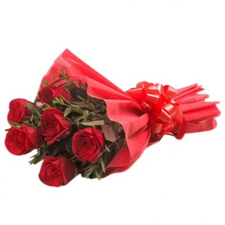 Red Roses With Red Bouquet