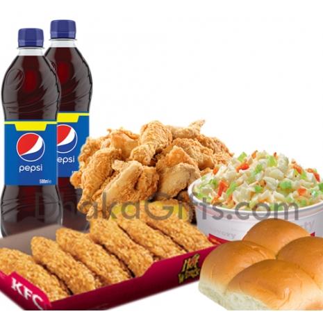 send kfc meal for 6 person to dhaka