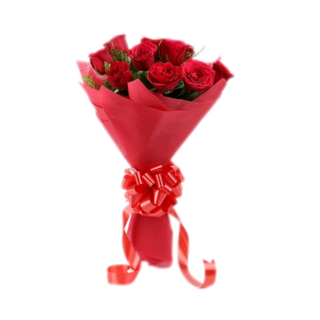 Send 6 Red Roses in Bouquet to Dhaka