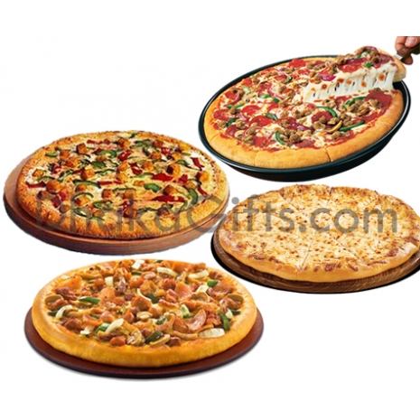 4 personal pan pizzas in one box to dhaka