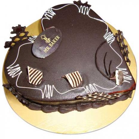 send mr.baker chocolate heart cake to dhaka