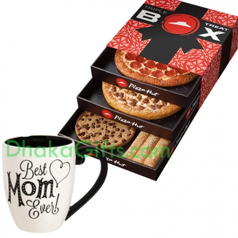 Mothers Day Mug With Triple Treat Box From Pizza Hut
