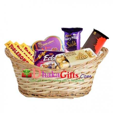 send chocolate baskect to dhaka