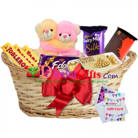 send sarprize gifts baskect to dhaka in bangladesh
