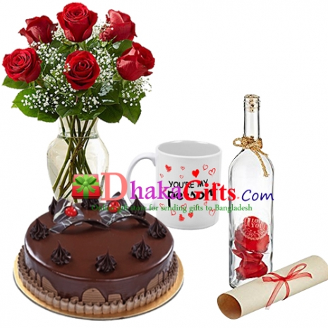 send romantic celebration love gifts to dhaka