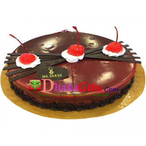 send mr.baker red velvet round cake dhaka